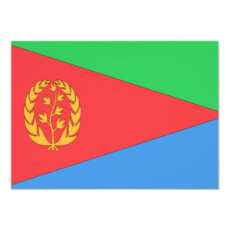 """Bandera de Eritrea Invitación 5"""" X 7"""""""