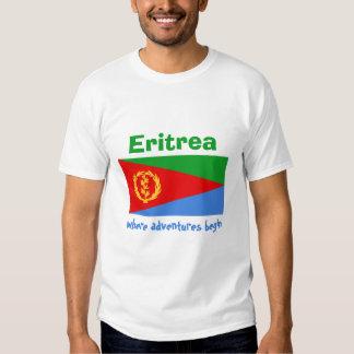 Bandera de Eritrea + Mapa + Camiseta del texto Polera