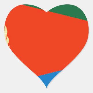Bandera de Eritrea Pegatina En Forma De Corazón