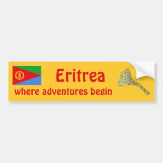 Bandera de Eritrea + Pegatina para el parachoques Etiqueta De Parachoque