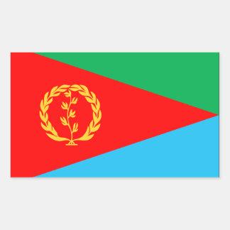 Bandera de Eritrea Pegatina Rectangular