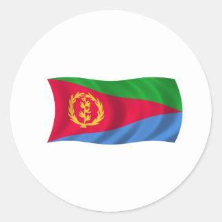 Bandera de Eritrea Pegatina Redonda