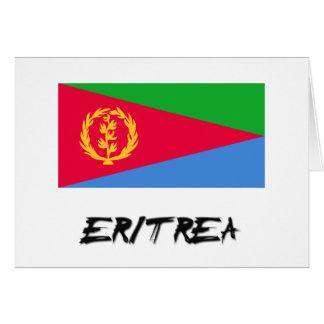 Bandera de Eritrea Tarjeta De Felicitación