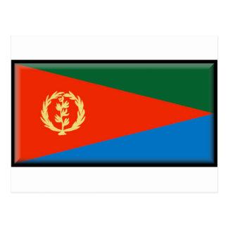 Bandera de Eritria Tarjeta Postal