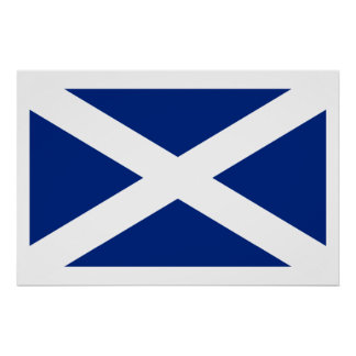 Bandera de Escocia (azul marino), Reino Unido Poster