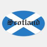 Bandera de Escocia Calcomanías Óvales