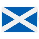 Bandera de Escocia del escocés Tarjeta