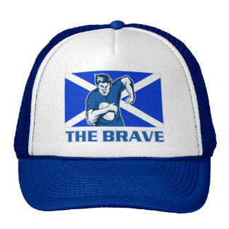 bandera de Escocia del jugador del rugbi el valien Gorros