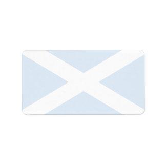Bandera de Escocia Etiquetas De Dirección