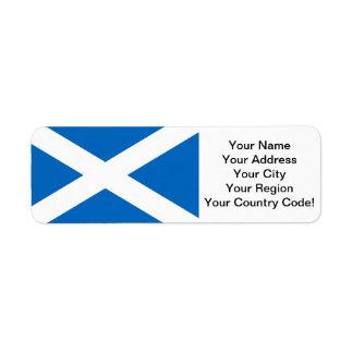 Bandera de Escocia Etiquetas De Remite