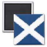 Bandera de Escocia Imán Cuadrado