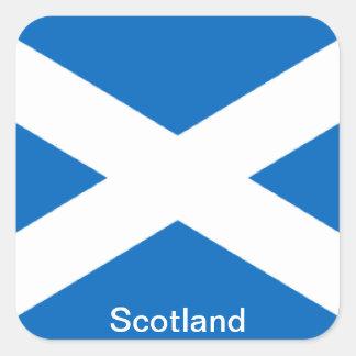Bandera de Escocia Calcomanía Cuadradas Personalizadas