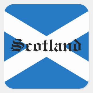 Bandera de Escocia Pegatinas Cuadradas Personalizadas