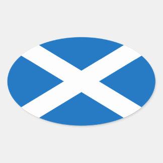 Bandera de Escocia Pegatina Ovalada