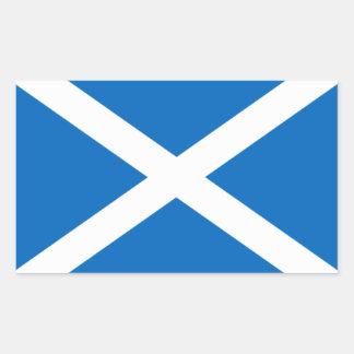 Bandera de Escocia Rectangular Pegatina