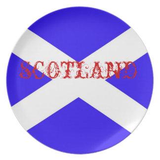 Bandera de Escocia Plato De Comida