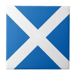 Bandera de Escocia - recuerdo escocés de la Azulejo Cuadrado Pequeño