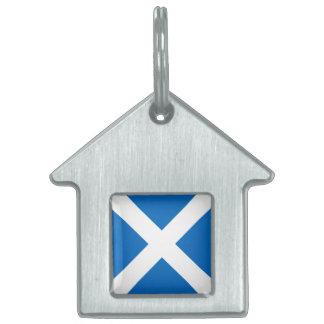 Bandera de Escocia - recuerdo escocés de la Placas De Nombre De Mascota