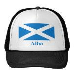 Bandera de Escocia St Andrew con nombre en gaélico Gorros