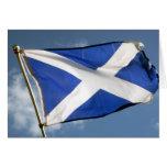 bandera de Escocia Tarjeta De Felicitación