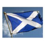 bandera de Escocia Tarjetas Postales