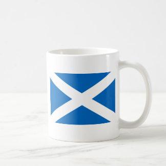 Bandera de Escocia Taza Básica Blanca