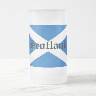 Bandera de Escocia Taza Cristal Mate