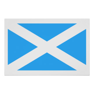 Bandera de Escocia (tradicional), Reino Unido Posters