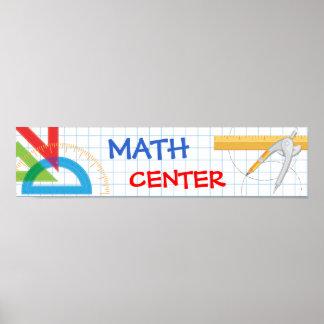 Bandera de escuela de la matemáticas poster