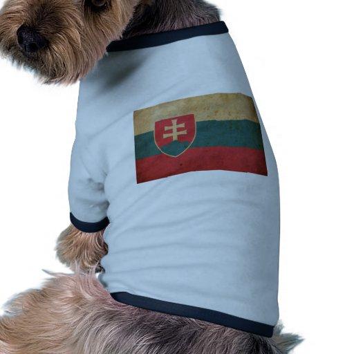 Bandera de Eslovaquia del vintage Camiseta Con Mangas Para Perro