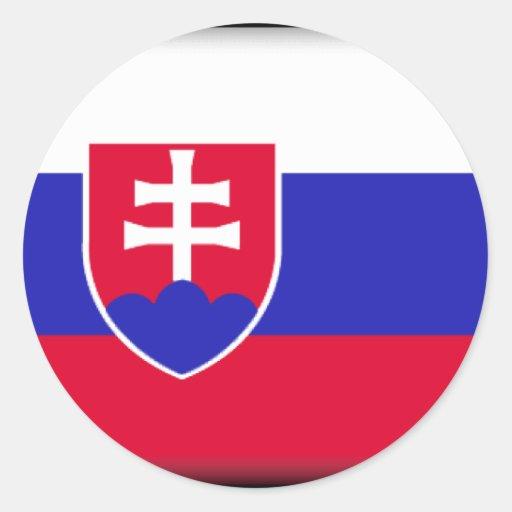 Bandera de Eslovaquia Etiqueta
