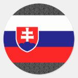 Bandera de Eslovaquia Etiquetas Redondas