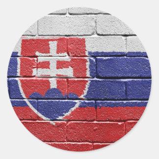 Bandera de Eslovaquia Pegatina Redonda