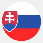 Bandera de Eslovaquia Pegatinas Redondas