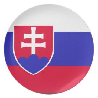 Bandera de Eslovaquia Platos Para Fiestas