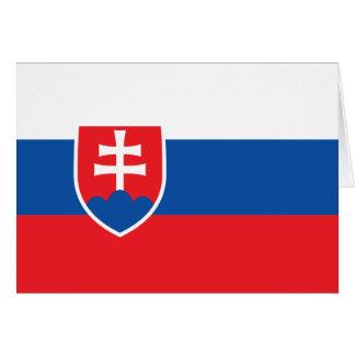 Bandera de Eslovaquia Tarjeta