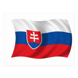 Bandera de Eslovaquia Tarjeta Postal