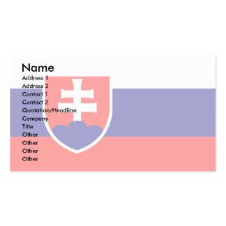 Bandera de Eslovaquia Tarjetas De Visita