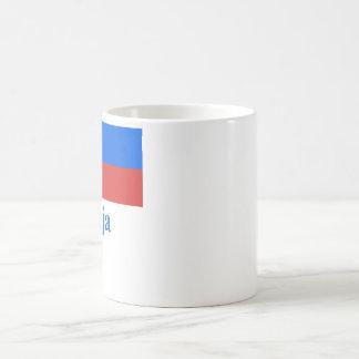 Bandera de Eslovenia con nombre en esloveno Tazas De Café