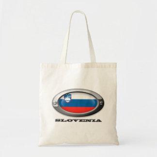 Bandera de Eslovenia en el marco de acero Bolsa Tela Barata
