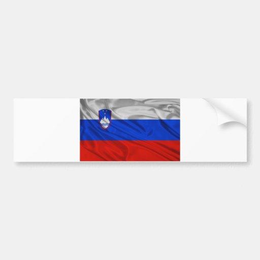 Bandera de Eslovenia Pegatina Para Auto