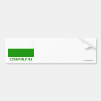 Bandera de Esmeraldas con nombre Pegatina Para Auto