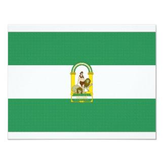 Bandera de España Andalucía Invitaciones Personalizada