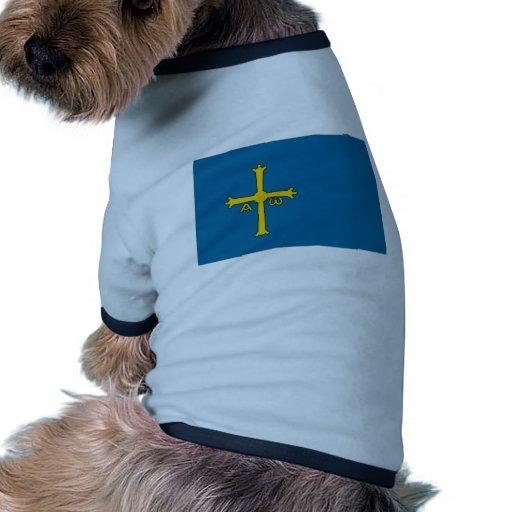 Bandera de España Asturias Camisetas De Mascota