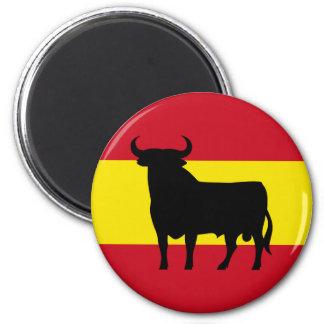 Bandera de España Bull Imán Redondo 5 Cm