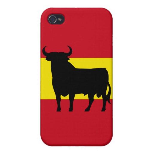 Bandera de España Bull iPhone 4 Fundas