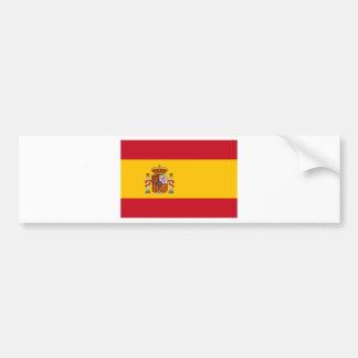 Bandera de España Pegatina De Parachoque