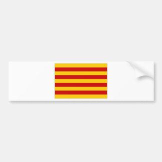 Bandera de España Cataluña Etiqueta De Parachoque