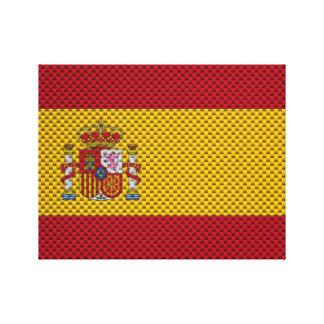 Bandera de España con efecto de la fibra de carbon Lona Estirada Galerias