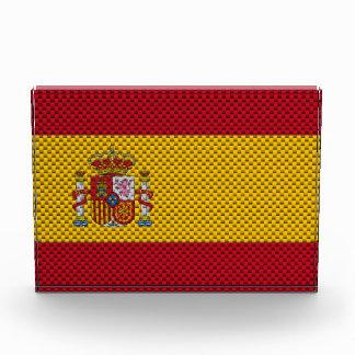 Bandera de España con efecto de la fibra de carbon